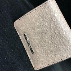 Michael Kors Jet Set Saffian Leather Wallet